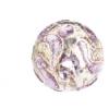 Glass Lamp Bead Round 12mm Crystal/Amethyst